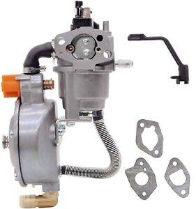 Dual Fuel LPG Carburetor For Duromax XP4400EH XP4850EH 7HP 4400 Watts 4850 Watts