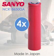 4x SANYO 3.7v NCR 18650 GA 3500mah High Capacity Lithium Rechargeable Battery