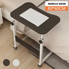 Adjustable Height Rolling Desk Laptop Table Mobile Bedside Stand Home Bed Room