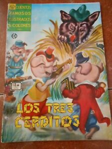 CUENTOS illustrated comic THREE LITTLE PIGS wolf SNOW WHITE ROSE RED classics