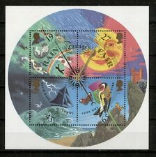 "GREAT BRITAIN 2001, METEOROLOGY, RAINING ""CATS & DOGS"", BIRDS, BUTTERFLY S/S MNH"