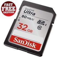32GB SDHC Memory Card Ultra Class 10 UHS-I Sandisk SD Flash Storage Canon Camera