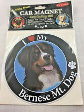 E & S Pets I Love My Bernese Mt. Mountain Dog Car Magnet Uv Coated New 5.5""