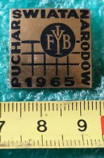 WORLD CUP VOLEYBALL POLAND 1965 OLD PIN BADGE