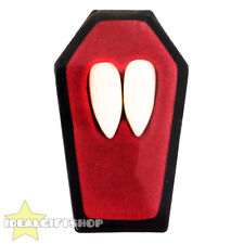 VAMPIRE FANGS HALLOWEEN FANCY DRESS COUNT DRACULA TEETH CAPS ADHESIVE PUTTY