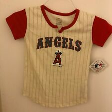 New Authentic Los Angeles Angels of Anaheim Girls Small 6/6X T-Shirt