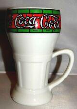 """Coca Cola Mann Mugs Exclusive """"Drink Coca Cola"""" White Ceramic Soda Fountain Mug"""