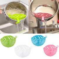 Durable Leaf Shape Rice Wash Sieve Beans Peas Grape Cleaning Gadget Kitchen Tool