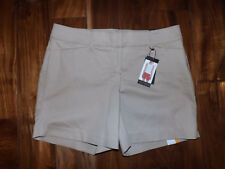 NWT Womens THE LIMITED Sand Khaki Classic Flat Front Dress Shorts Size 16