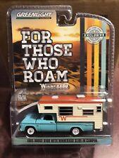 Greenlight Hobby Exclusive 1965 Dodge D-100 Winnebago slide-in Camper