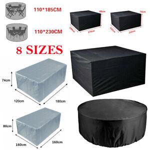 Heavy Duty Waterproof Garden Patio Furniture Cover Outdoor Large Rattan Table UK