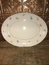 Pope-Gosser  Paula ? China Floral Platter Made In U.S.A. Sterling