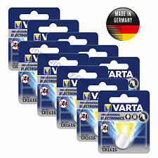 10 x VARTA Professional Lithium CR1616 6616 Coin German Battery 3V EXP:2022