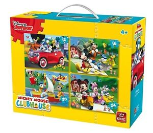 4 IN 1 CHILDRENS DISNEY MICKEY MOUSE & FRIENDS CLUBHOUSE JIGSAW PUZZLE 05505