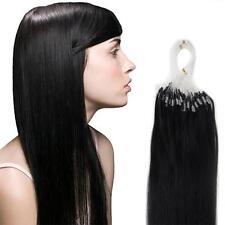 "DIY Micro Ring Beads Loop Link Tip Remy Human Hair Extensions 16""18""20"" US Stock"