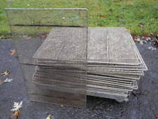 """(20)Used Commercial Heavy Duty 17"""" x 25"""" Wire Donut Fryer Screens+Rolling Cart"""