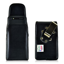 Turtleback Blackberry Classic Q20 Vertical Leather Holster Pouch Metal Belt Clip