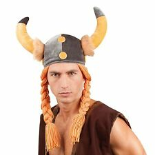 Viking Helmet Soft Toy Plush Hat Hair Medieval Warrior Fancy Dress Kids Adults