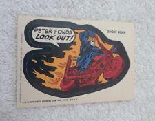 "1975 Topps Marvel Super Hero Sticker ""Ghost Rider"" NM"