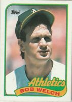 FREE SHIPPING-MINT-1989 Topps #605 Bob Welch Athletics