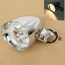 "Chrome Bullet Tri Bar 4.5"" Headlight For Harley Chopper Sportster Dyna Softail"