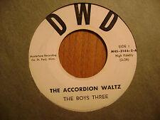 Dwd 45 Record / Die Jungen Drei / Akkordeon Waltz / Tic Toc Punkta / VG Minus /
