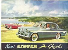 SINGER GAZELLE III - 1959 1960 ? ENGLISH / catalogue brochure prospekt sale