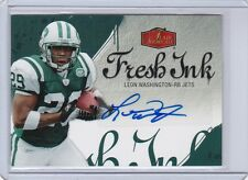 2006 FLEER FLAIR SHOWCASE AUTO LEON WASHINGTON CARD# FI-LW