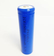 1 18650 Lithium ion Rechargeable Batteries Cell 2600mAh 3.7V Button Top PKCELL