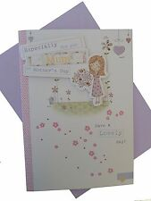 """""""For you Mum""""  mothers day card. Girl with flowers design   (707)"""