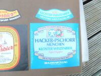 HACKER  BREWERY MUNCHEN  GERMAN BEER LABEL UNUSED