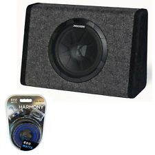 "Kicker PT10 BassStation Loaded 10"" Sub Subwoofer Enclosure 600W Amplifier Kit"