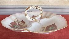 serviteur aperitif porcelaine de Paris 19eme decor signe date 96