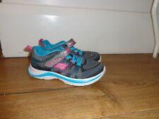 Sketchers orthalite grey, blue & pink girls sneakers trainers US 10, UK 9, EU 26