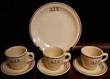 Vintage TEPCO RESTAURANT CHINA 7 pc Delta Sigma Epsilon PLATE/CUPS/SAUCERS