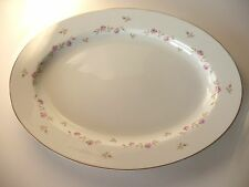 Vintage Noritake Rose China N Japan-1946-47-Wilma #2201-Large Platter-Pink-White