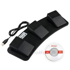 USB 3 Triple Action Foot Switch Pedal Control Keyboard