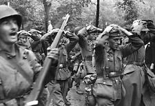 WWII B&W Photo German POW's March M1 Garand  WW2 World War Two  / 2015