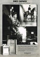 PUBLICITE  1979   CAPUCCI   eau de toilette  PUNJAB  parfum