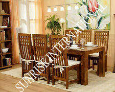 Stylish Wooden Dining table (6ft approx) with 6 chairs furniture set