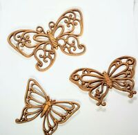 Butterfly Wall Hangings Vintage Dart Ind Homco 1970s