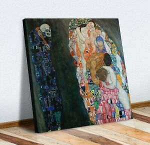 Death and Life CANVAS WALL ART PICTURE PRINT PAINTING Gustav Klimt