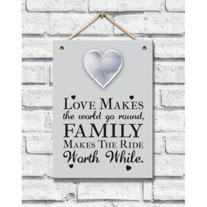 Frame - Wooden Plaque with Metal Heart