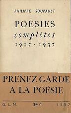 EO N° GLM + BANDEAU + PHILIPPE SOUPAULT : POÉSIES COMPLÈTES 1917-1937