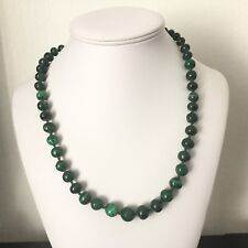 Collier Vintage En Pierres Dures Malachite French Vintage Necklace Stones