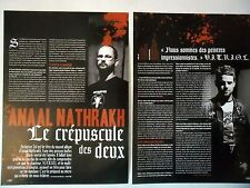 COUPURE DE PRESSE-CLIPPING :  ANAAL NATHRAKH [2pages] 11/2006 Vitriol,Eschaton