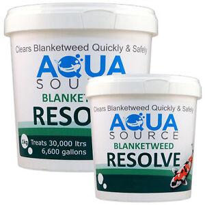 AQUA SOURCE BLANKET WEED RESOLVE WATER TREATMENT BLANKETWEED POND FISH KOI NEW
