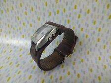 Ladies Womens Fossil Watch Small Metal Face USED Aztec Square Design Unisex Mens