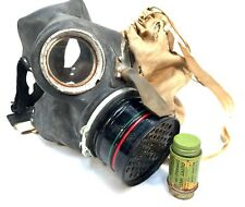 More details for second world war gas mask in hessian bag with anti dimming stick / wwii / 1940