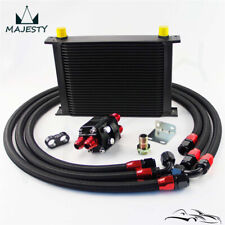 28 Row AN10 Oil Cooler +3/4*16 UNF & M20*1.5 Filter Relocation Adapter Hose Kit